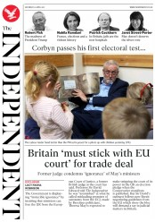 The Independent (UK) Newspaper Front Page for 22 April 2017