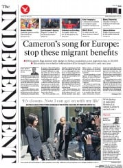 The Independent (UK) Newspaper Front Page for 22 May 2015