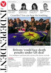 The Independent (UK) Newspaper Front Page for 23 November 2019