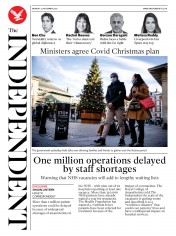 The Independent front page for 23 November 2020