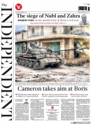 The Independent (UK) Newspaper Front Page for 23 February 2016