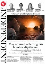 The Independent (UK) Newspaper Front Page for 23 February 2017