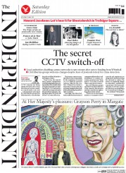 The Independent (UK) Newspaper Front Page for 23 May 2015
