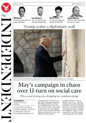 The Independent () Newspaper Front Page for 23 May 2017