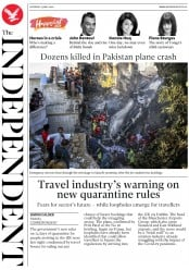 The Independent front page for 23 May 2020
