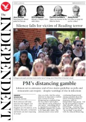 The Independent front page for 23 June 2020