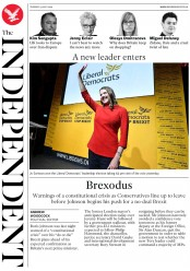 The Independent (UK) Newspaper Front Page for 23 July 2019