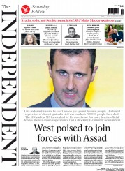 The Independent (UK) Newspaper Front Page for 23 August 2014