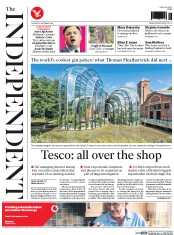 The Independent (UK) Newspaper Front Page for 23 September 2014