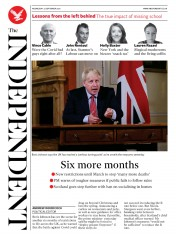 The Independent front page for 23 September 2020