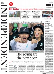 The Independent (UK) Newspaper Front Page for 24 November 2014