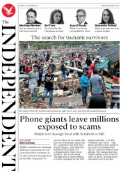 The Independent (UK) Newspaper Front Page for 24 December 2018
