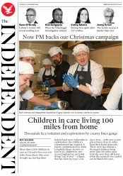 The Independent () Newspaper Front Page for 24 December 2019