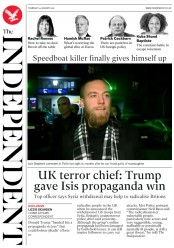 The Independent () Newspaper Front Page for 24 January 2019