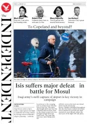 The Independent (UK) Newspaper Front Page for 24 February 2017