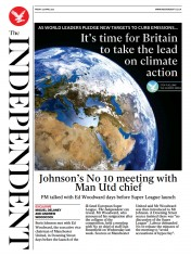 The Independent front page for 24 April 2021