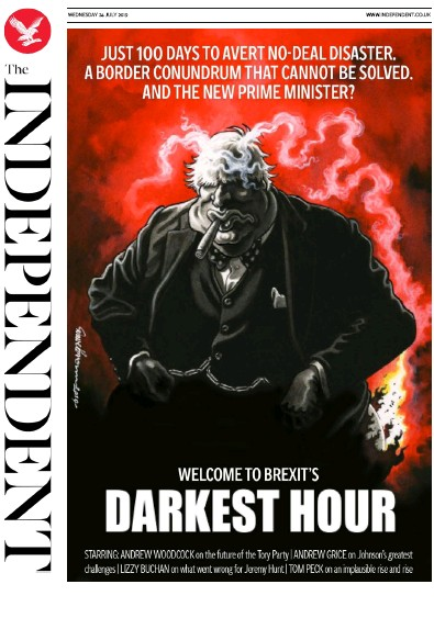 The Independent Newspaper Front Page (UK) for 24 July 2019
