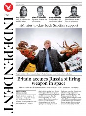 The Independent (UK) Newspaper Front Page for 24 July 2020