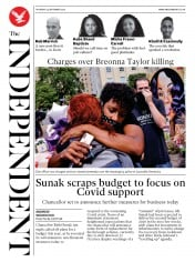 The Independent front page for 24 September 2020