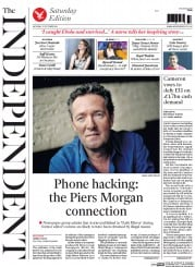 The Independent (UK) Newspaper Front Page for 25 October 2014
