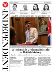 The Independent front page for 25 November 2020