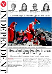The Independent (UK) Newspaper Front Page for 25 December 2019