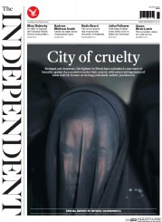 The Independent (UK) Newspaper Front Page for 25 February 2016