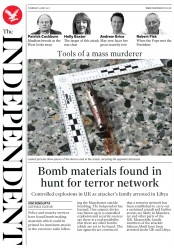 The Independent (UK) Newspaper Front Page for 25 May 2017