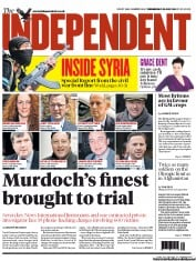 The Independent Newspaper Front Page (UK) for 25 July 2012