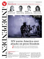 The Independent front page for 25 July 2020