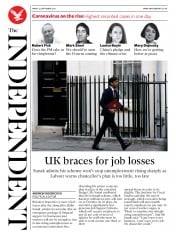 The Independent front page for 25 September 2020