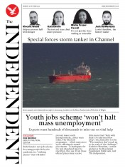 The Independent front page for 26 October 2020