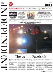 The Independent (UK) Newspaper Front Page for 26 November 2014