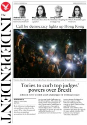 The Independent (UK) Newspaper Front Page for 26 November 2019