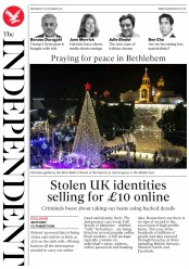 The Independent (UK) Newspaper Front Page for 26 December 2018