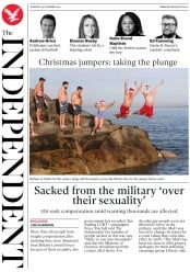 The Independent () Newspaper Front Page for 26 December 2019