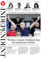 The Independent () Newspaper Front Page for 26 January 2019