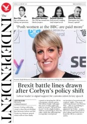 The Independent (UK) Newspaper Front Page for 26 February 2018