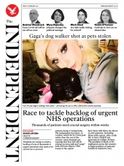 The Independent front page for 26 February 2021