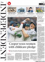 The Independent (UK) Newspaper Front Page for 26 May 2015