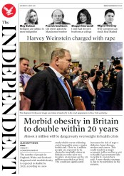 The Independent (UK) Newspaper Front Page for 26 May 2018