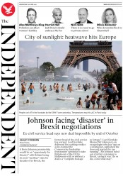 The Independent (UK) Newspaper Front Page for 26 June 2019