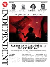 The Independent front page for 26 June 2020