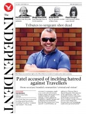 The Independent front page for 26 September 2020
