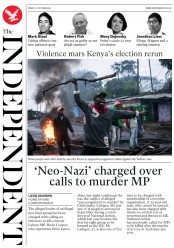 The Independent () Newspaper Front Page for 27 October 2017