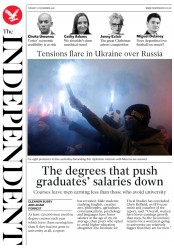 The Independent (UK) Newspaper Front Page for 27 November 2018