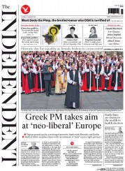 The Independent (UK) Newspaper Front Page for 27 January 2015