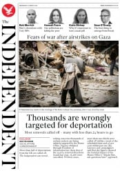 The Independent (UK) Newspaper Front Page for 27 March 2019