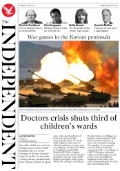 The Independent (UK) Newspaper Front Page for 27 April 2017