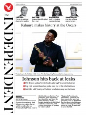 The Independent () Newspaper Front Page for 27 April 2021